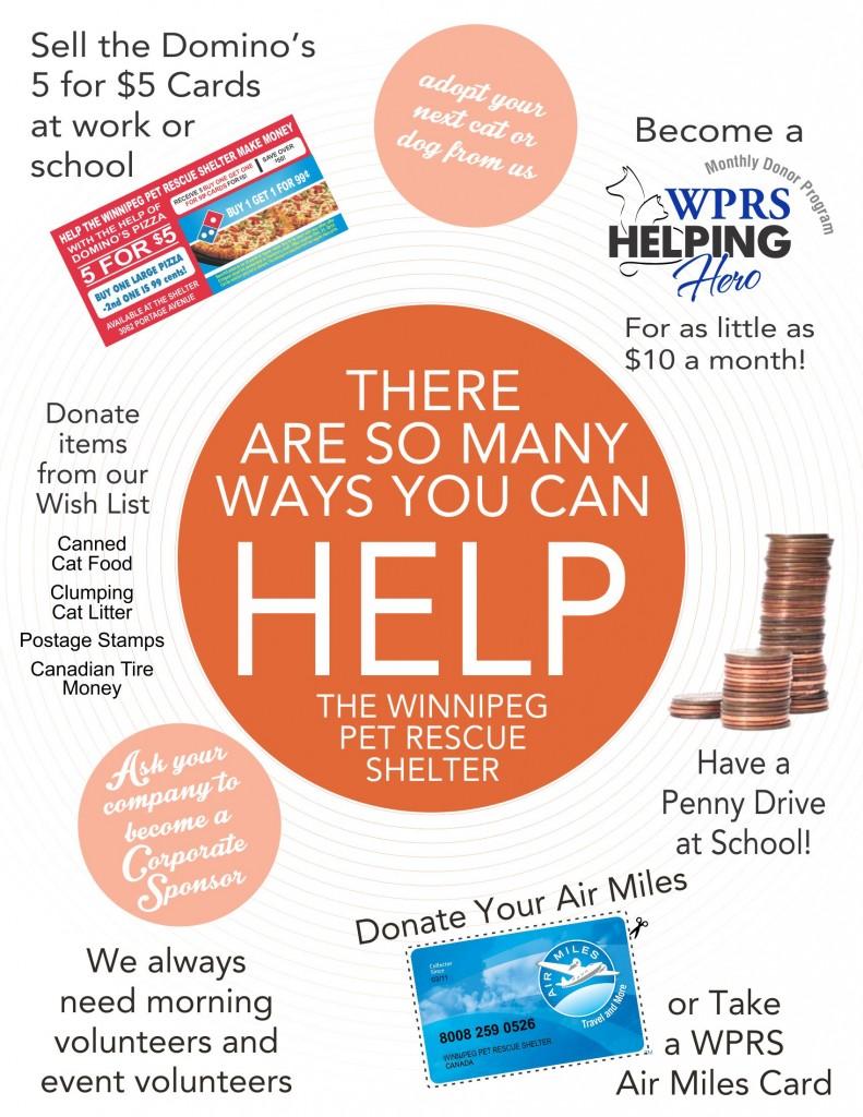 Many ways to help