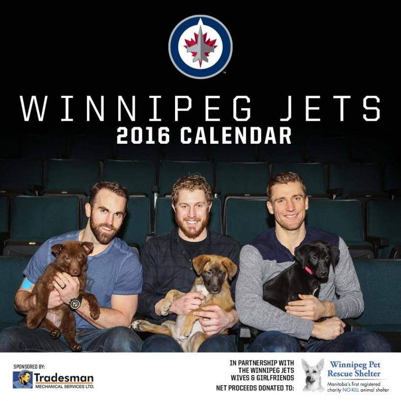 Winnipeg Jets Calendar to raise funds for Winnipeg Pet Rescue Shelter