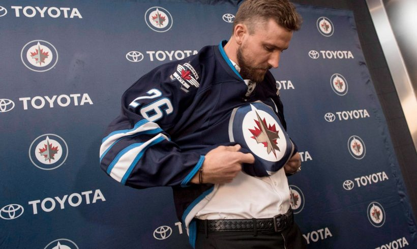 'I can't think of a better person:' Carla Martinelli-Irvine says New Jets captain Blake Wheeler is community leader
