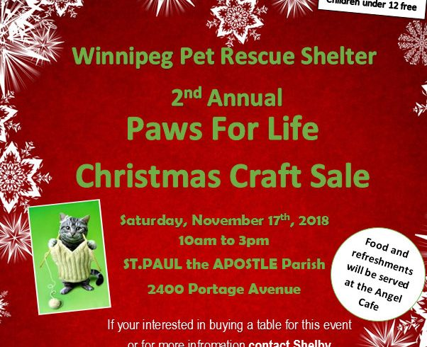 2nd Annual Paws For Life Christmas Craft Sale