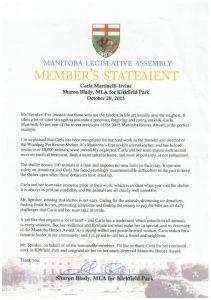 Members Statement